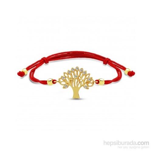 Aslaner Hayat Ağacı Altın Bileklik