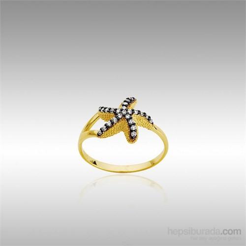 Sheamor Çift Renk Deniz Yıldızı Altın Bayan Yüzük