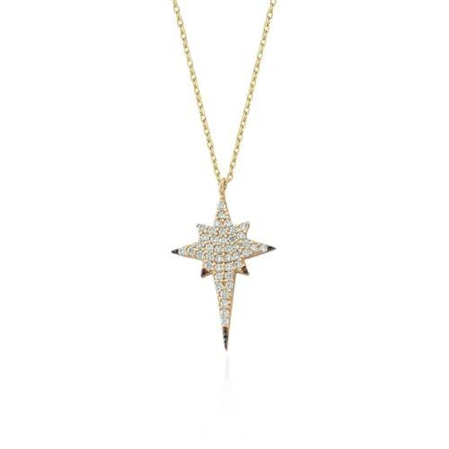Glorria 14 Ayar Altın Kutup Yıldızı Kolye