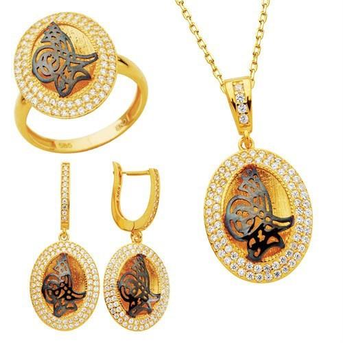 Bella Gloria Osmanlı Tuğrası Altın Takım (Pt78330)