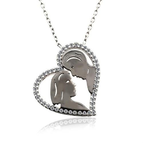 İndigo Takı Karı Koca Anneler Günü Gümüş Kolye