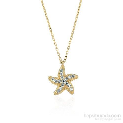 Glorria 14 Ayar Altın Deniz Yıldızı Kolye