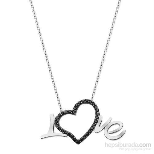 Allegrogold 925 Ayar Gümüş Love Kolye Ask0057