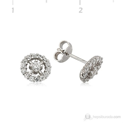 Gumush 925 Zirkon Taşlı Gümüş Küpe | Ea1540009