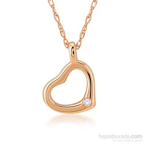 Divas Love Altın Pırlantalı Kalp Kolye