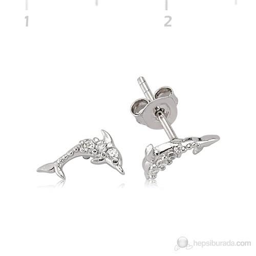 Gumush 925 Zirkon Taşlı Gümüş Küpe   Ea0490004
