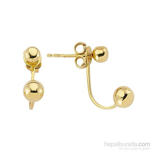 Koçak Gold 14 Ayar Sarı Altın Top Küpe