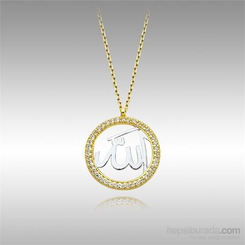 Sheamor Allah Çerçeve Altın Kolye
