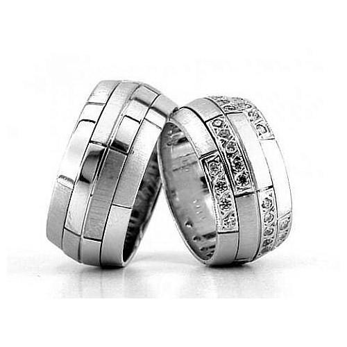 Berk Kuyumculuk Gümüş Alyans 5780(çift)