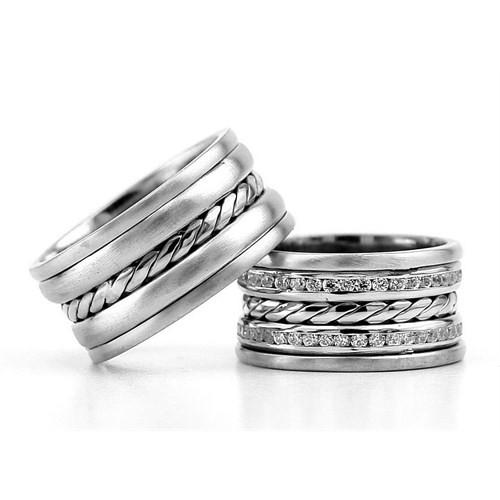 Berk Kuyumculuk Gümüş Alyans 5837(çift)