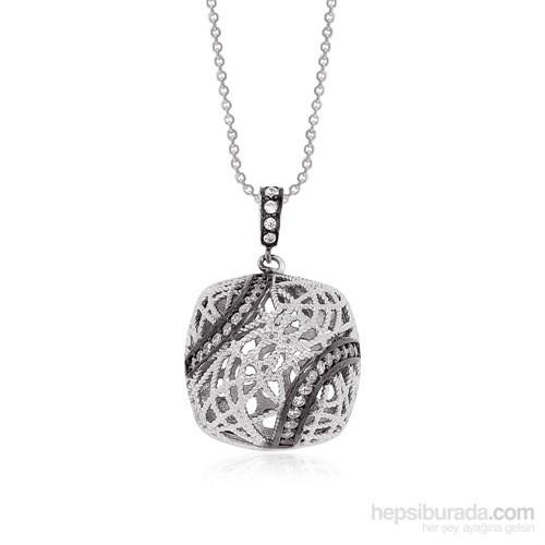 Altınsepeti Gümüş Taşlı Kafes Kolye Astm010399