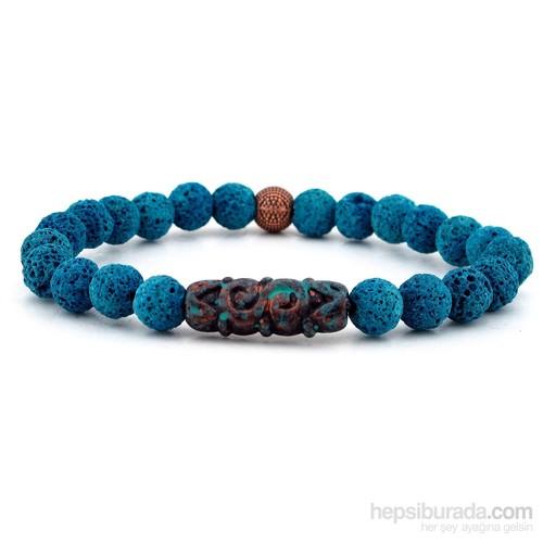 Solfera Doğal Mavi Lav Taşı Erkek Bileklik B756