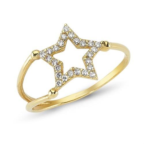 Altınsepeti Altın Yıldız Yüzük As07yz