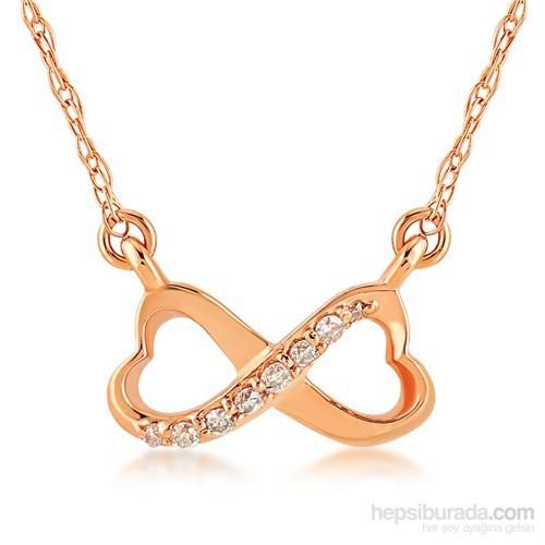 Divas Love Altın Pırlantalı Sonsuzluk Kolye