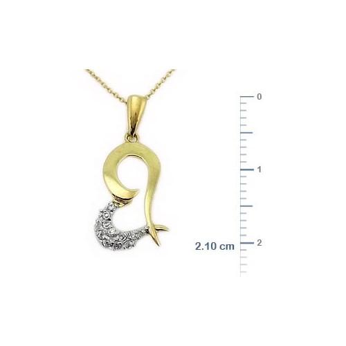 Goldstore 14 Ayar Altın Kalp Kolye Gp9984