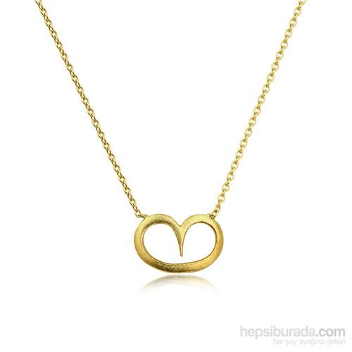 Pırlanta Hediyeler Orta Kalp Altın Kolye (Sarı Altın)