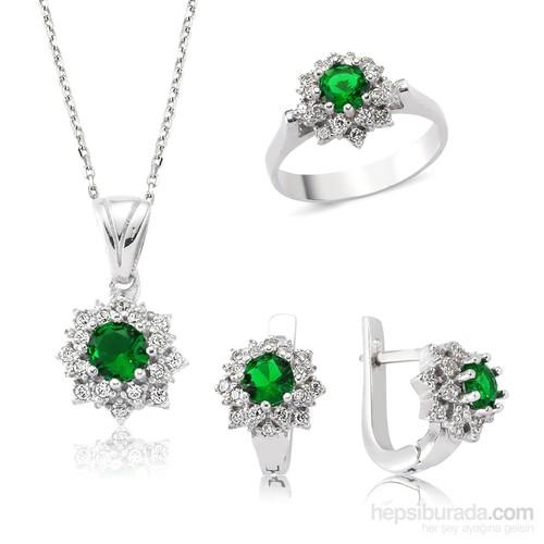 Gumush Gümüş Yeşil Nilüfer Çiçeği Set