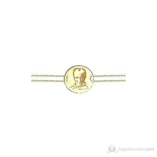 Goldstore 14 Ayar Altın Atatürk Ve İmza Bileklik Gb23822