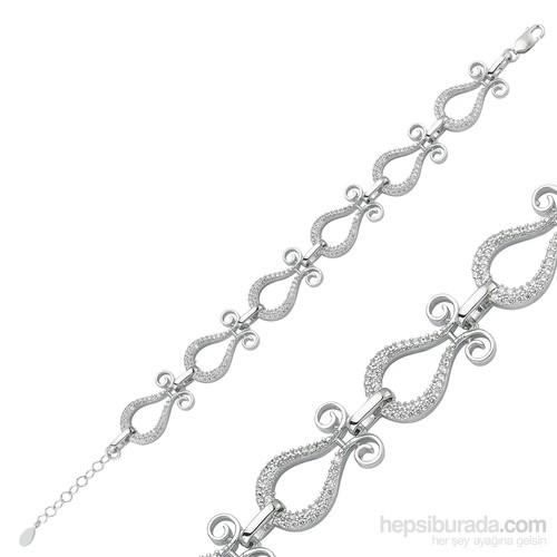 Gumush 925 Ayar Gümüş Lale Bileklik