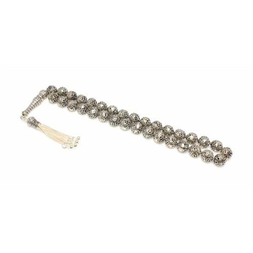 Nusret Takı 925 Ayar Gümüş Delikli Döküm Toplu Tesbih