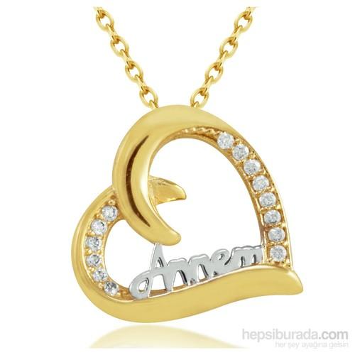 Goldstore 14 Ayar Altın Annem Kolye Gp39875