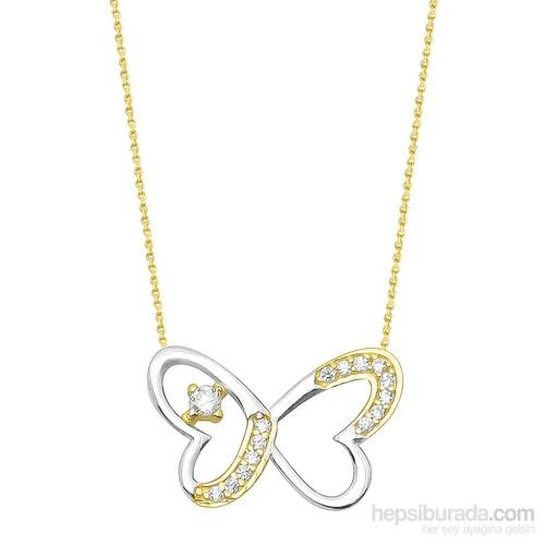 Melis Gold Altın Kelebek Kolye Kly00834