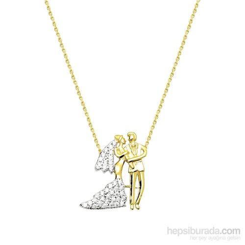 Melis Gold Altın Gelin & Damat Kolye Kly00914