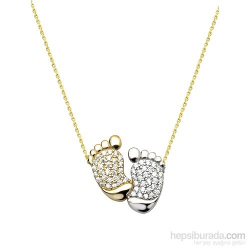 Melis Gold Altın Ayak Kolye Kly00916