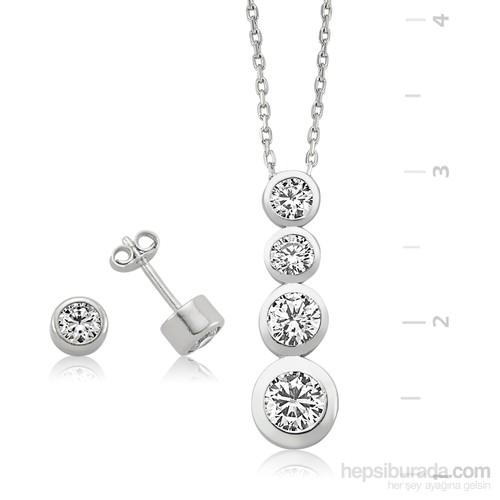 Gumush 925 Tektaş Gümüş Set