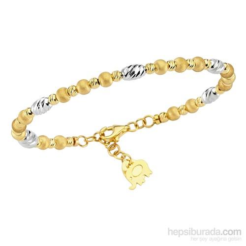 Koçak Gold 14 Ayar Sarı Beyaz Altın Bilezik