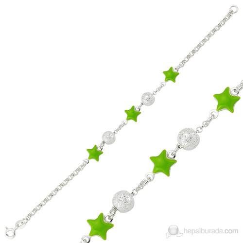 Gumush 925 Yeşil Yıldız Çocuk Bileklik Br1160006