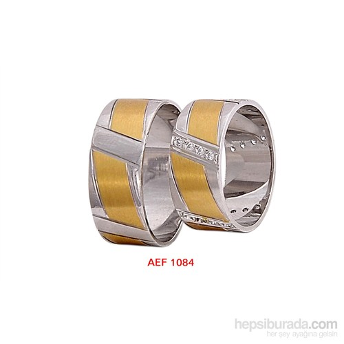 Arjuna Gümüş Tek Taş El İşi Çift Alyans Al1084