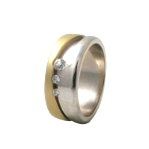 Arjuna Gümüş Tek Taş El İşi Çift Alyans Al0138