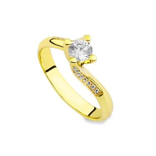 Melis Gold Altın Tektaş Yüzük Ay0000123