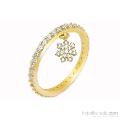 Melis Gold Tamtur Kar Tanesi Yüzük Ay0000261