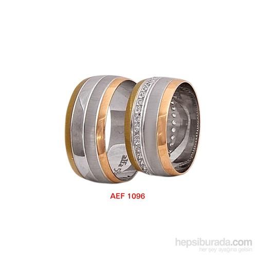 Arjuna Gümüş Tek Taş El İşi Çift Alyans Al1096