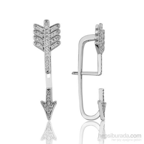 Tekbir Silver Gümüş Eros'un Oku Küpe