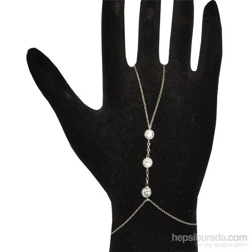 Nusret Takı 925 Ayar Gümüş Taşlı Şahmeran Bileklik - Beyaz