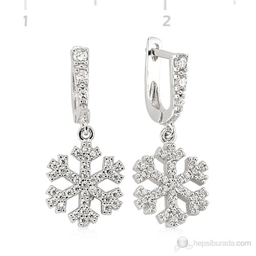 Tekbir Silver 925 Gümüş Zirkon Taşlı Küpe Set101106e