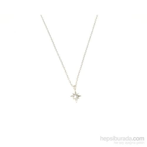 Nusret Takı 925 Ayar Gümüş Kutup Yıldızı Kolye Beyaz