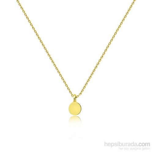 Pırlanta Hediyeler Altın Pul Kolye (Sarı Altın)