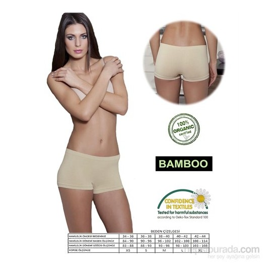 Emzik Hamile Doğum Sonrası Toparlayıcı Bambu Boxer