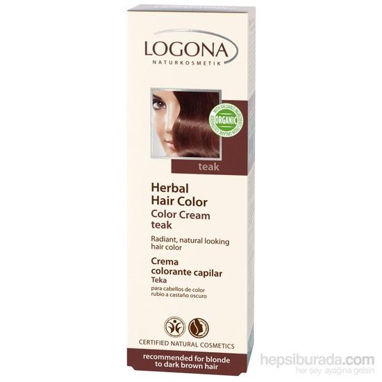 Logona Koyu Kahve Renkli Saçlar İçin Teak Ağacı Renkli Bitkisel Krem Boya - Teak 150 ml.