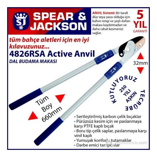 Spear And Jackson 4826Rsa Dal Budama Makası Anvil 66 Cm