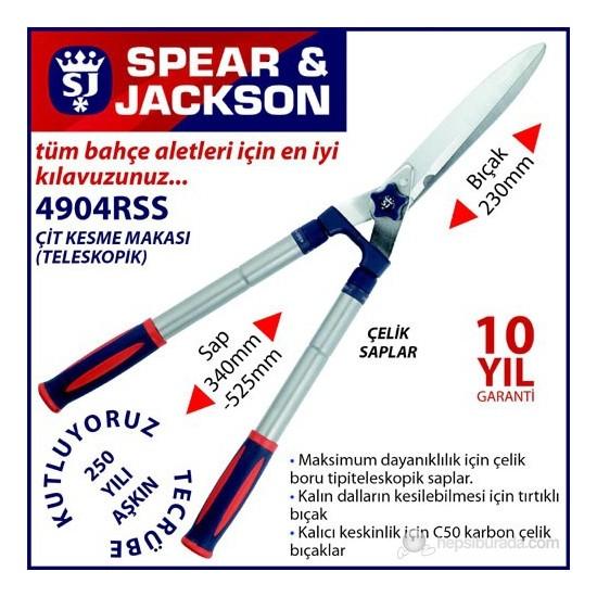 Spear And Jackson 4904Rss Çit Kesme Makası Teleskopik Ve Çelik Saplı