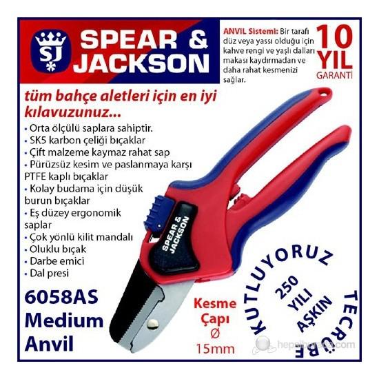 Spear And Jackson 6058As Budama Makası Profesyonel Anvil