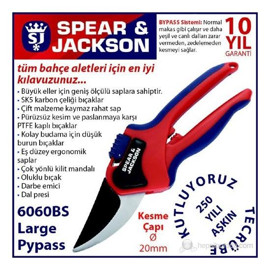 Spear And Jackson 6060Bs Budama Makası Profesyonel Bypass