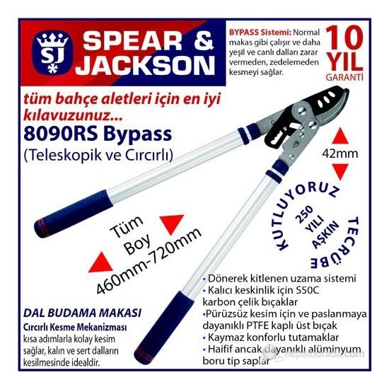 Spear And Jackson 8090Rs Teleskopik Dal Budama Makası Bypass Cırıcırlı Sistem