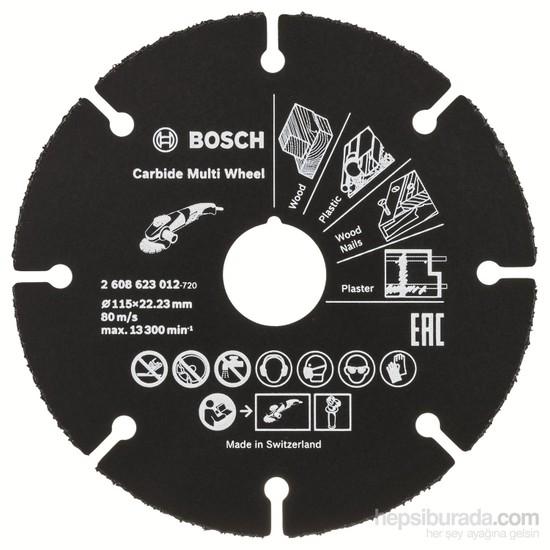 Bosch - Carbide Multiwheel, Taşlama Makineleri İle Ahşap Ve Plastiği Güvenli Kesme Bıçağı 115Mm
