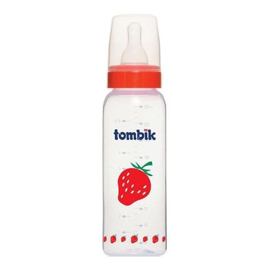 Tombik Meyve Desenli PP Biberon 250 ML (%0 BPA) / Çilek